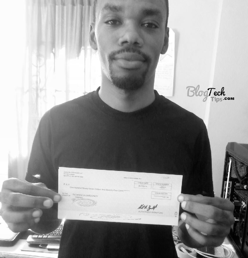 Amazon associates cheque
