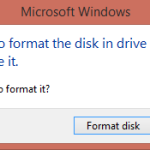 You need to format the disk in drive Fix