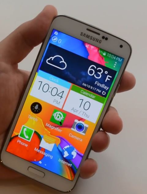 samsung galaxy s5 easy mode