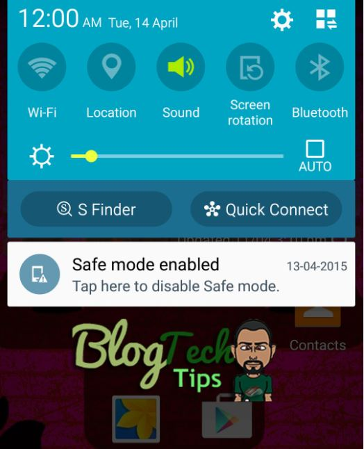 samsung galaxy safe mode