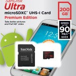 200 GB on a SD card finally in the  Sandisk Ultra 200GB