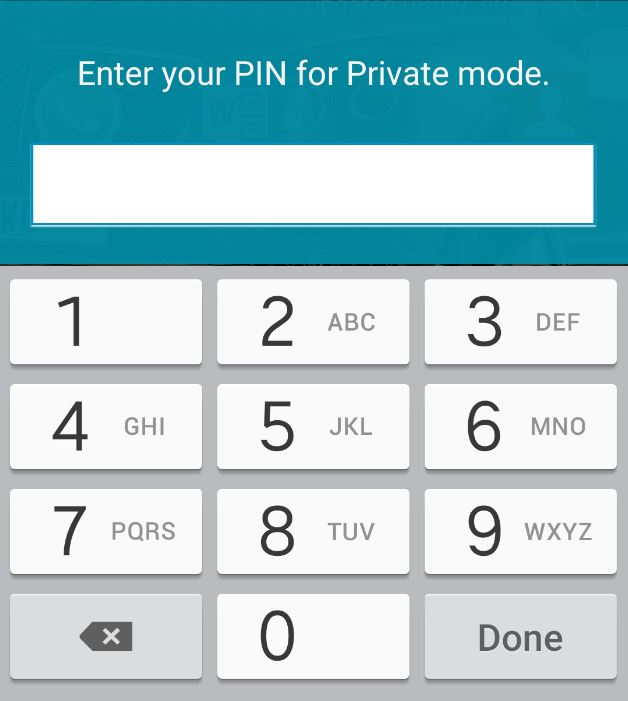 samsung galaxy s5 private mode