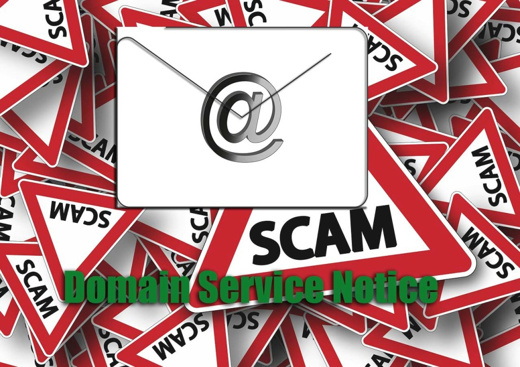 domain service notice scam