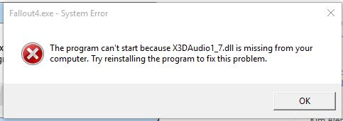 X3daudio1_7.dll is missing