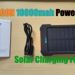 X-DRAGON 10000mah Power bank with Solar Charging