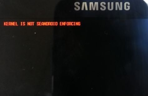 kernel is not Seandroid enforcing error