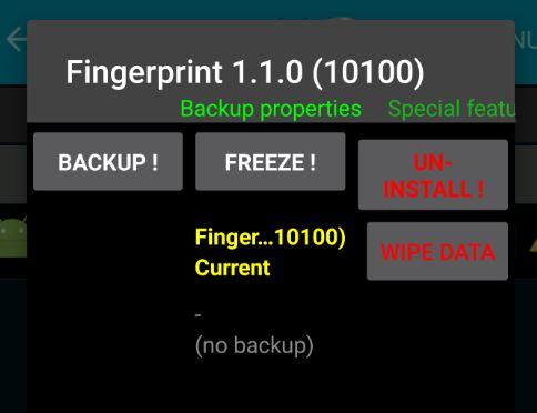 An error has occurred with the fingerprint sensor