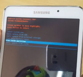 Hard reset galaxy Tab 4