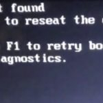 Internal Hard disk not found fix