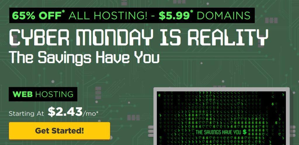 Cyber Monday HostGator Sale