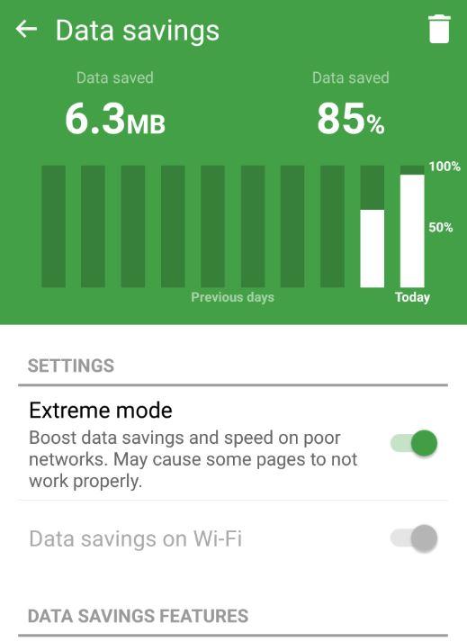 save mobile data