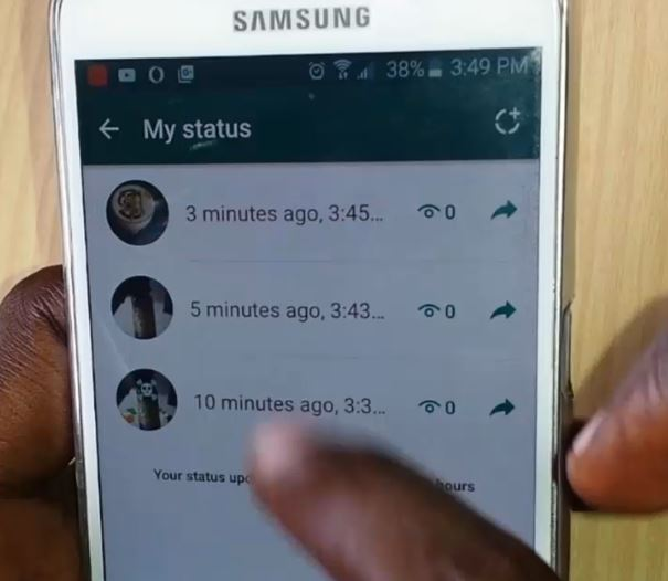 WhatsApp new status feature Add multiple slides