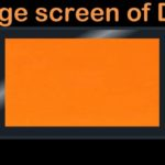 The Orange Screen of death Nintendo Switch