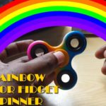 Rainbow colored Fidget Spinner
