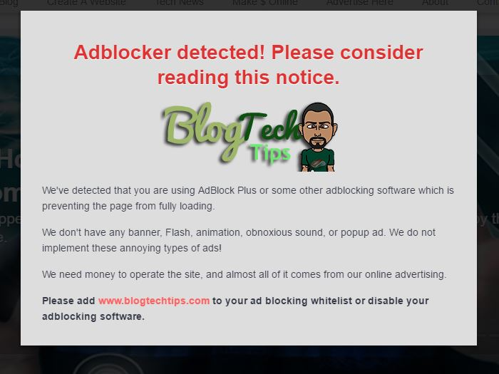 How to Block adBlock Users on your Website