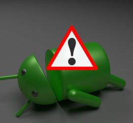 The Dead Android and Red Triangle Error Symbol on Android