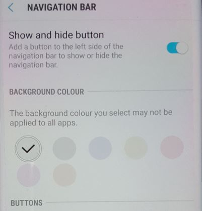 Galaxy S8 Hide Navigation Bar Update
