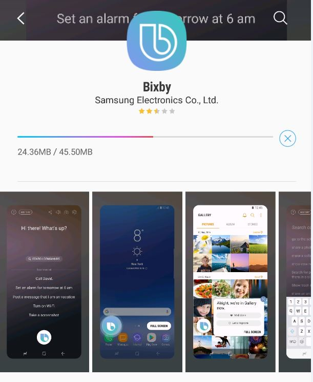 Bixby Voice downloaded but nowhere to be found
