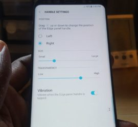 Customize the Edge Panel Tab on Galaxy S8