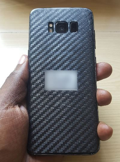 Carbon Fiber Back Cover Protector Film for Samsung Galaxy S8