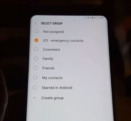 How to setup the ICE Contact Galaxy S8