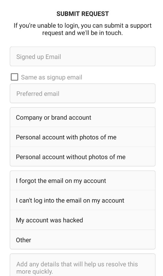 Get your Instagram Account back or fix Security code issues