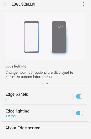 Turn Notification Edge Lighting On and Off Galaxy S8