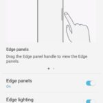 How to enable or disable the quick menu tab Galaxy S8