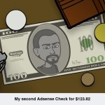 Second Adsense Check for $123.82 & Income Report