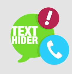 Hide texts and calls on android