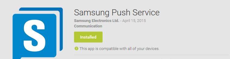 samsung push service battery drain