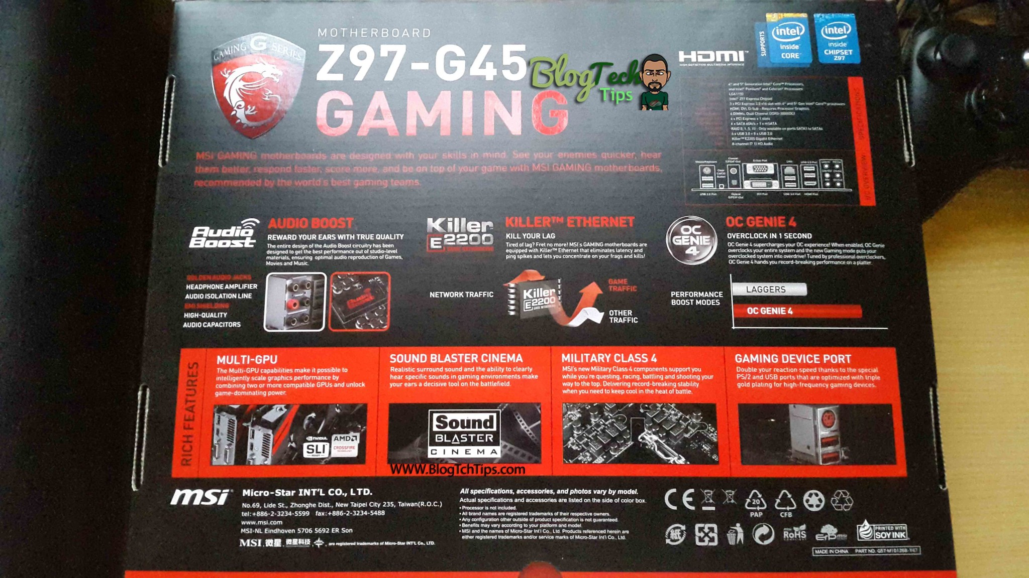 MSI Z97-G45 Gaming Review - BlogTechTips