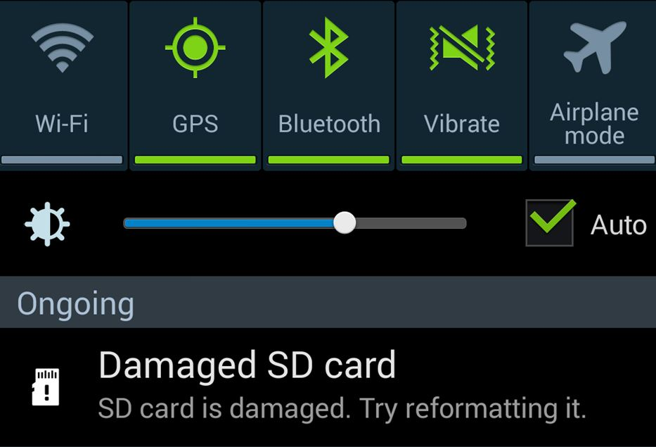 reformat sd card android