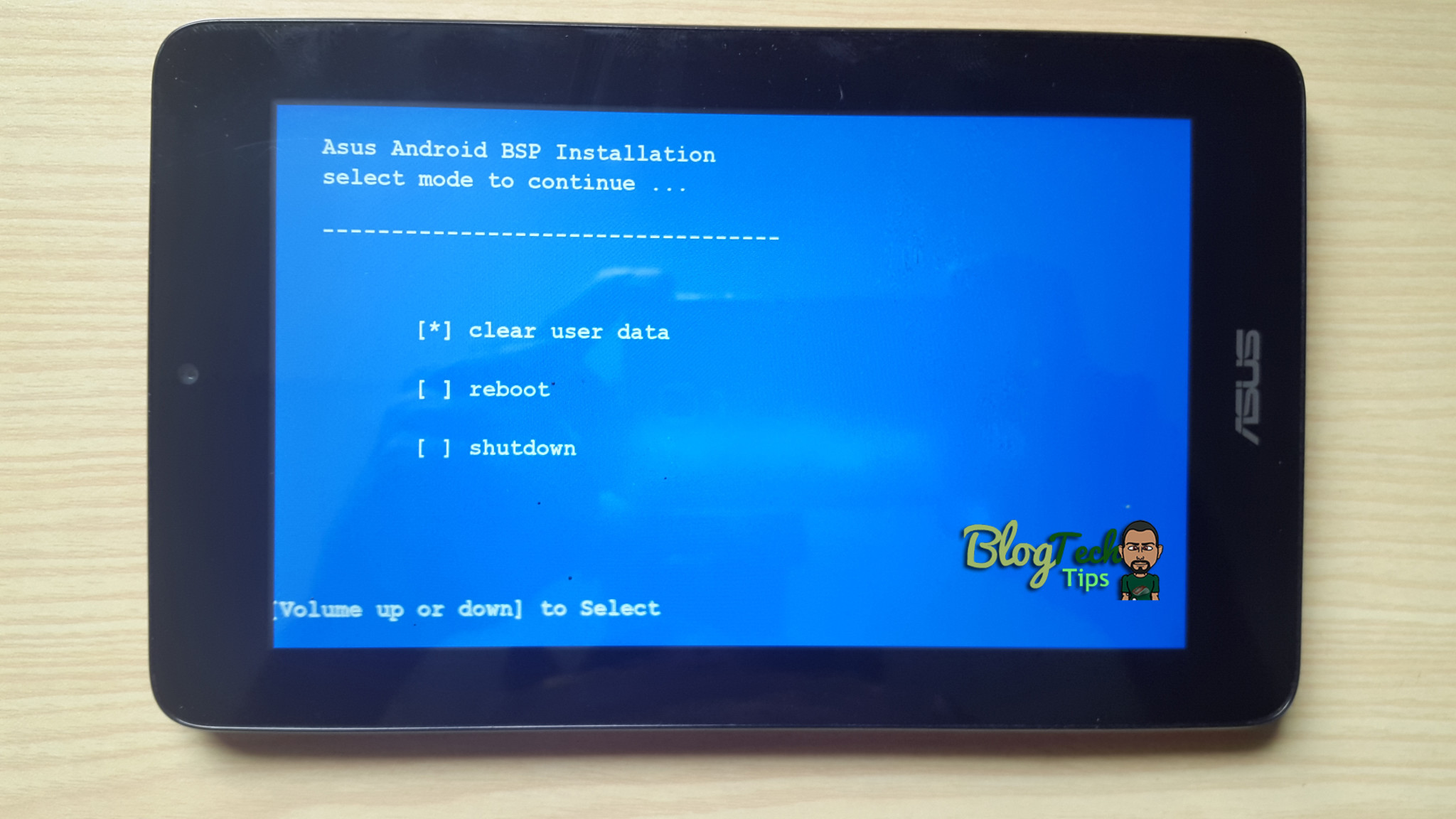 Asus Memo Pad Hard Reset: MicroSD Card method - BlogTechTips