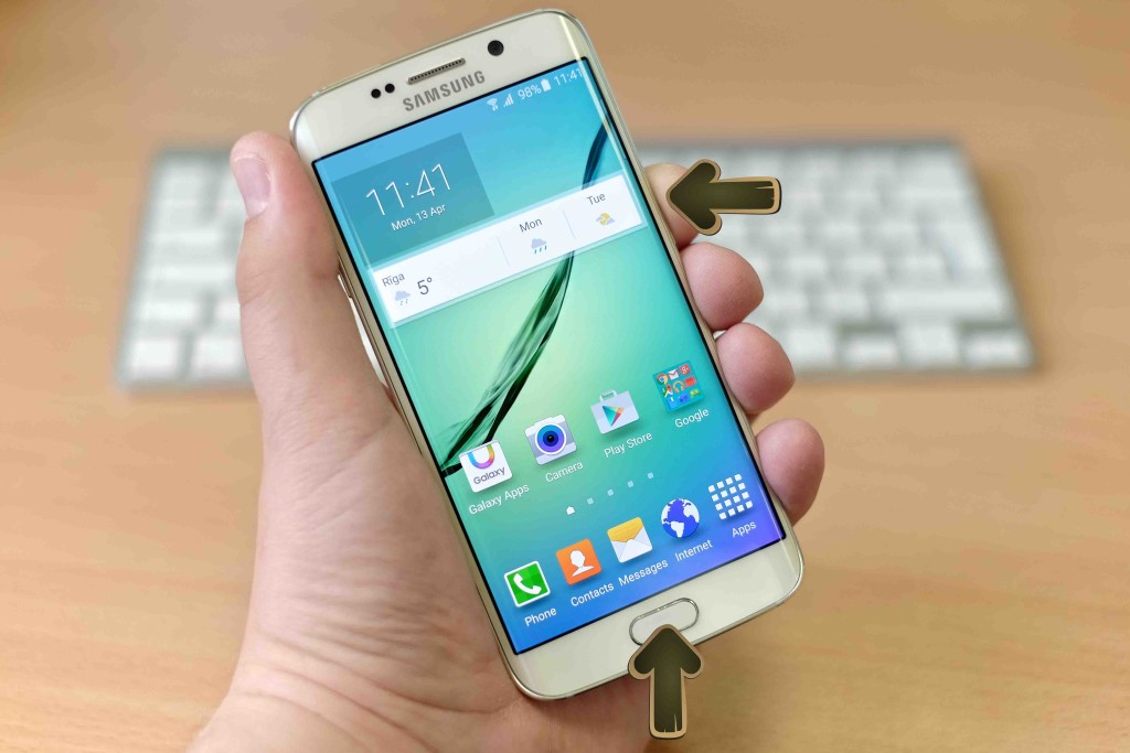 how do you take a screenshot on a Samsung Galaxy