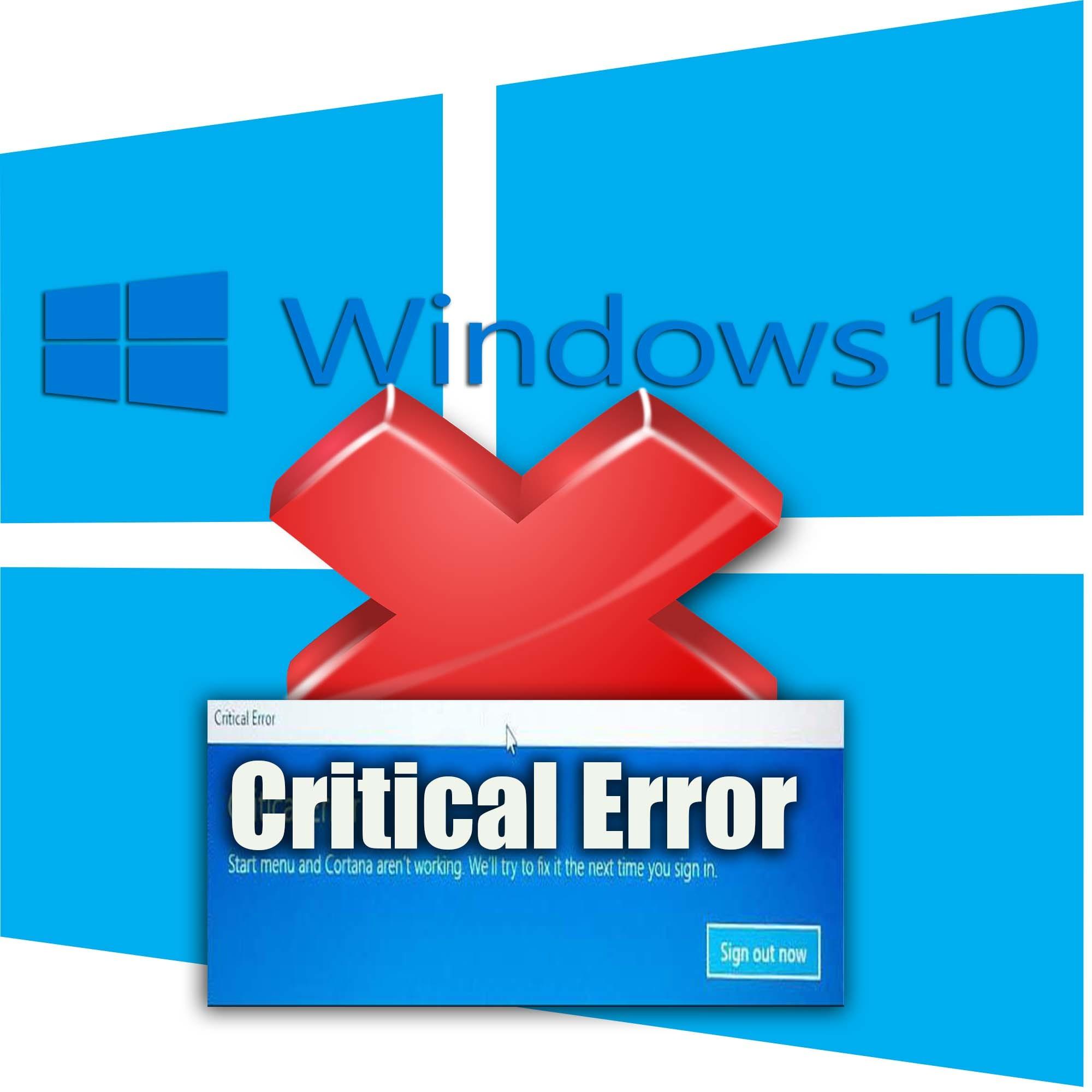 critical error windows 10 boot