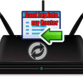 i cant log into my router