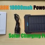 X-DRAGON 10000mah Power bank with Solar Charging