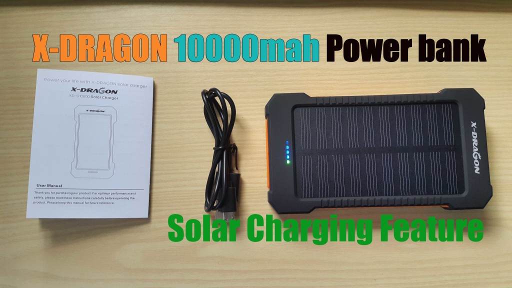 X Dragon 10000mah Power Bank With Solar Charging Blogtechtips