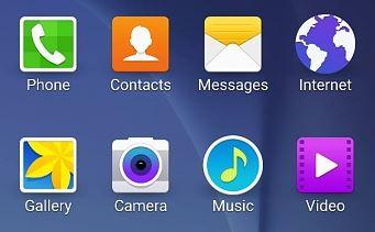 Round Icons Galaxy S6