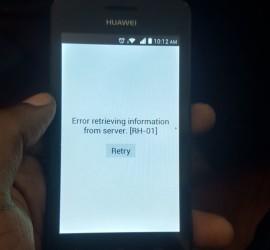Error retrieving information from server [rh-01]