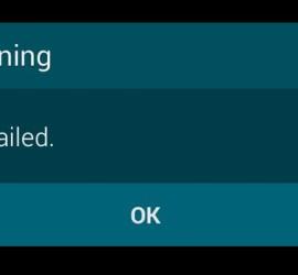 warning camera failed