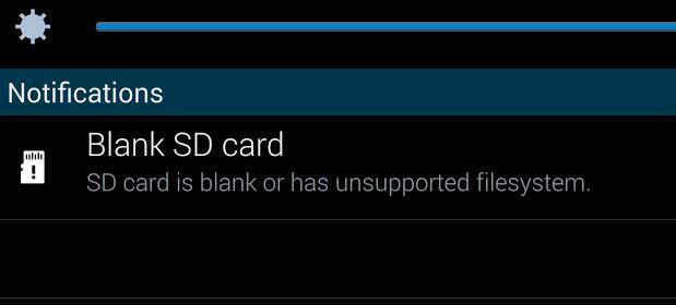 blank sd card