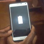 Samsung Galaxy Grey battery icon wont turn on issue Fix