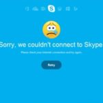 Skype can't connect issue fix