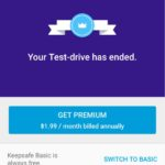 Keepsafe Your Test-drive has ended Fix