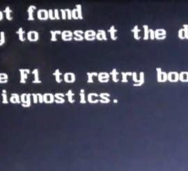 Internal Hard disk not found