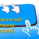 Laptop cursor jumping around randomly Fix