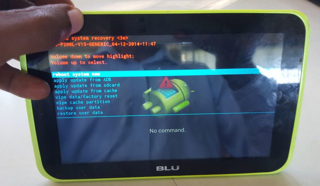 Hard Reset any BLU Tablet