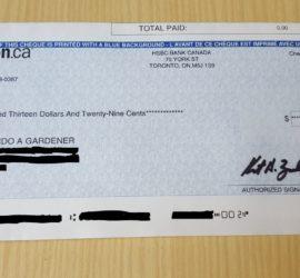 Amazon Canada Associates Check